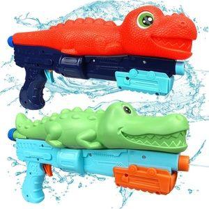 Dinosaur/crocodile water gun set